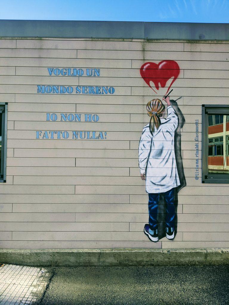 voglio un mondo sereno street art